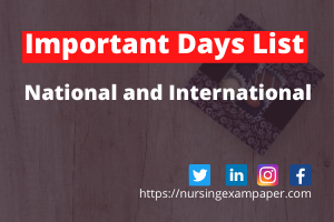 Important Days List National and International