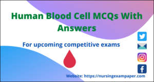 Human blood cell MCQs with an answer