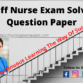 Staff nurse exam solved question paper