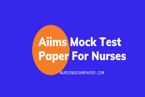 Aiims mock test paper