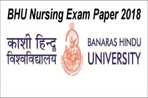 Answer Key BHU Nursing exam 2018