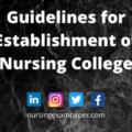 Guidelines for Establishment of Nursing College