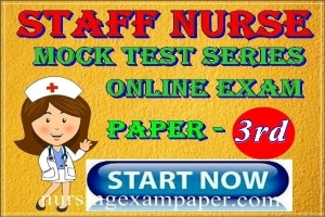 Nursing officer model paper 3rd