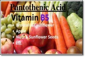 Vitamin B5 pantotenic acid