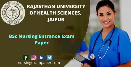 RUHS BSc Nursing Entrance Exam 2019
