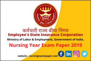 ESIC Previous Year Paper, previous year paper
