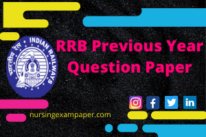 RRB previous year question paper